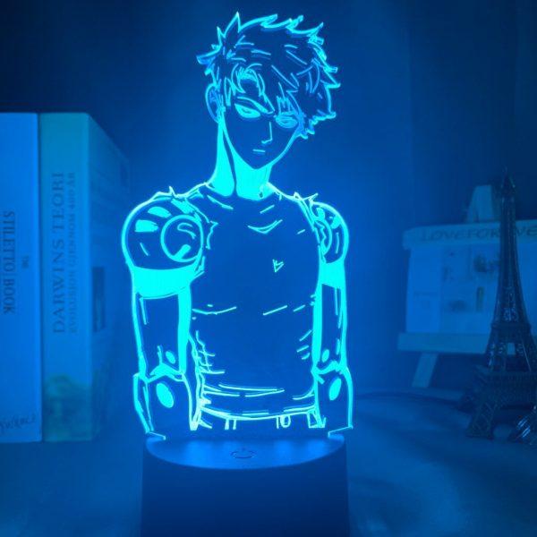 Lampe LED 3D One Punch Man Genos (7 couleurs) Lampe | Câble Usb | Télécommande Official Dr. Stone Merch