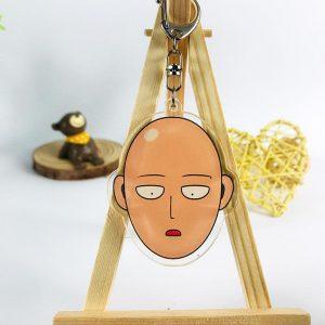 Porte clé One Punch Man Saitama Visage 5.5 cm Official Dr. Stone Merch