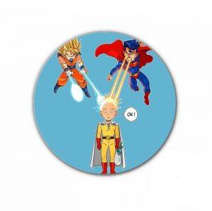Pin's Saitama vs Goku 4.4cm Official Dr. Stone Merch