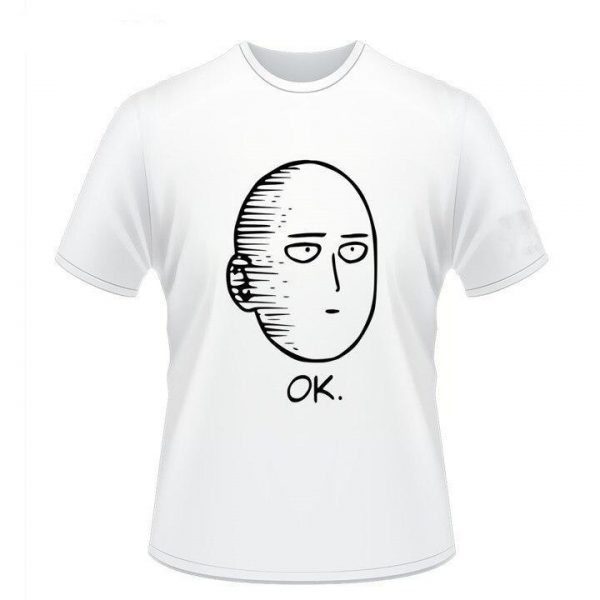 T-Shirt One Punch Man Saitama Ok noir & blanc S Official Dr. Stone Merch