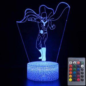 Lampe LED 3D One Punch Man Saitama (15cm) Lampe | Câble Usb | Télécommande Official Dr. Stone Merch