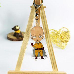 Porte clé One Punch Man Saitama Super Héro 5.5 cm Official Dr. Stone Merch