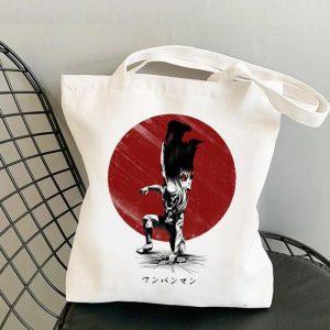 Tote Bag Saitama lune rouge Toile résistante Official Dr. Stone Merch