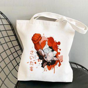 Tote Bag super saitama Toile résistante Official Dr. Stone Merch