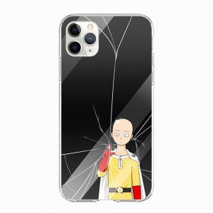 Coque One Punch Man iPhone Saitama Brise Vitre Iphone 5 S SE Official Dr. Stone Merch