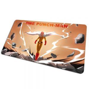 Tapis de souris bureau One Punch Man Saitama puissance 800x400x4mm Official Dr. Stone Merch