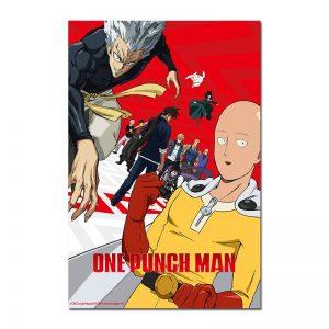 Poster Toile One Punch Man Saitama Garou Genos 30x45cm Official Dr. Stone Merch