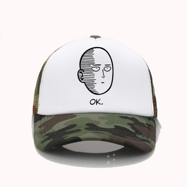 Casquette One Punch Man Saitama Ok Camouflage Official Dr. Stone Merch