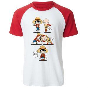 T-Shirt One Punch Man Saitama fusion Luffy S Official Dr. Stone Merch