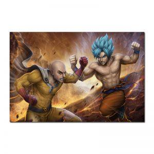 Poster Saitama vs Goku 30x45cm Official Dr. Stone Merch