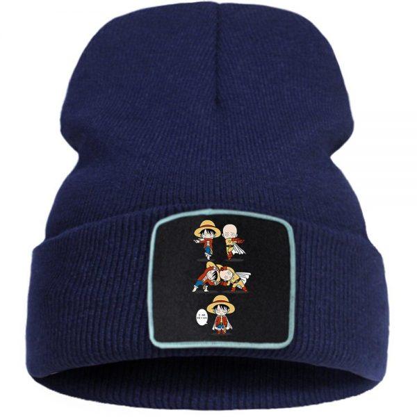 Bonnet One Punch Man Saitama Fusion Luffy Bleu foncé Official Dr. Stone Merch