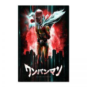 Poster Toile One Punch Man Saitama Surhumain 30x45cm Official Dr. Stone Merch