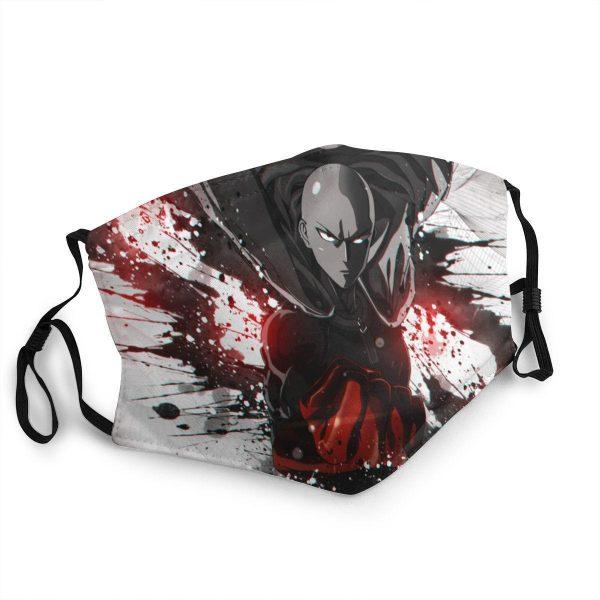 Masque Anti-Covid One Punch Man Saitama destructeur Lavable / Moins de 10 ans Official Dr. Stone Merch