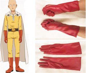 Gants Cuir Cosplay One Punch Man Saitama Cuir Rouge Official Dr. Stone Merch