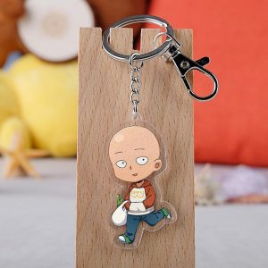 Porte clé One Punch Man Saitama Poireau 5.5 cm Official Dr. Stone Merch