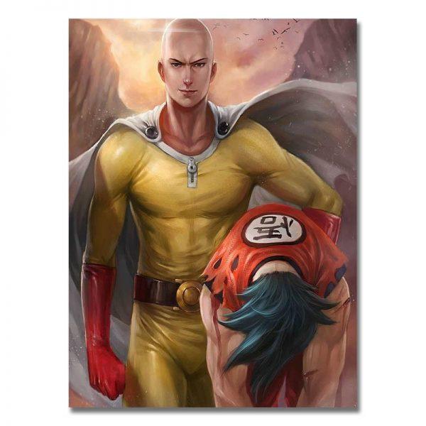 Poster Opm Saitama vs Goku 20x27cm Official Dr. Stone Merch