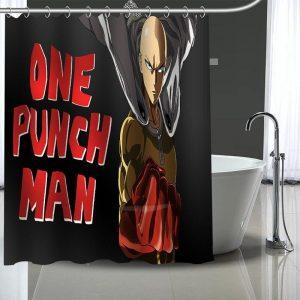 Rideau de douche One Punch Man Saitama Super Héro 90x180cm Official Dr. Stone Merch