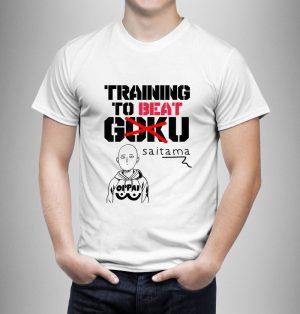 T-Shirt One Punch Man Entrainement pour battre Saitama S Official Dr. Stone Merch