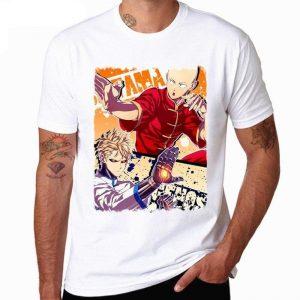 T-Shirt One Punch Man Saitama & Genos Kung Fu S Official Dr. Stone Merch