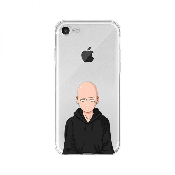 Coque One Punch Man iPhone Saitama Sweat Noir Iphone 4s Official Dr. Stone Merch