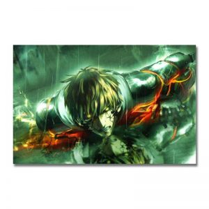 Poster Toile One Punch Man Genos Blessé 21x30cm Official Dr. Stone Merch