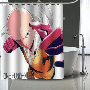 Rideau de douche One Punch Man Saitama Héro Capé 90x180cm Official Dr. Stone Merch