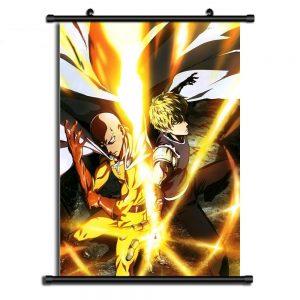 Poster One Punch Man Saitama Genos 20x30cm Official Dr. Stone Merch