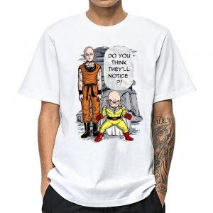 T-Shirt One Punch Man Saitama & Krilin DBZ S Official Dr. Stone Merch