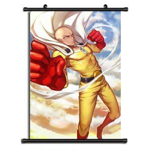Poster One Punch Man XXL Saitama Coup de Poing 20x30cm Official Dr. Stone Merch