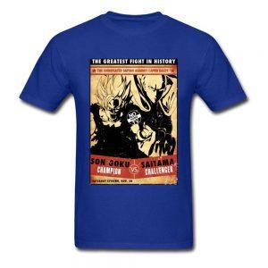 T-Shirt Saitama vs Goku Bleu / XS Official Dr. Stone Merch