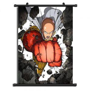 Poster One Punch Man XXL Saitama Super Punch 20x30cm Official Dr. Stone Merch