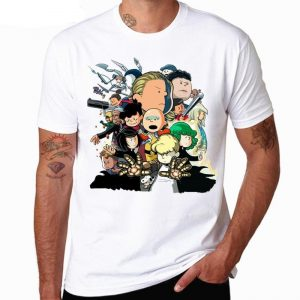 T-Shirt One Punch Man Classe S Caricature S Official Dr. Stone Merch