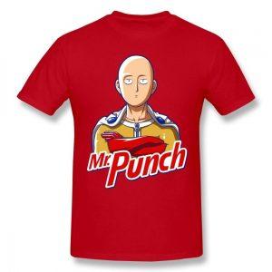 T-Shirt One Punch Man Saitama Mr Punch Noir / S Official Dr. Stone Merch