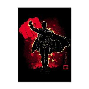 Poster Toile One Punch Man Saitama Haute Définition 30X40 cm Official Dr. Stone Merch