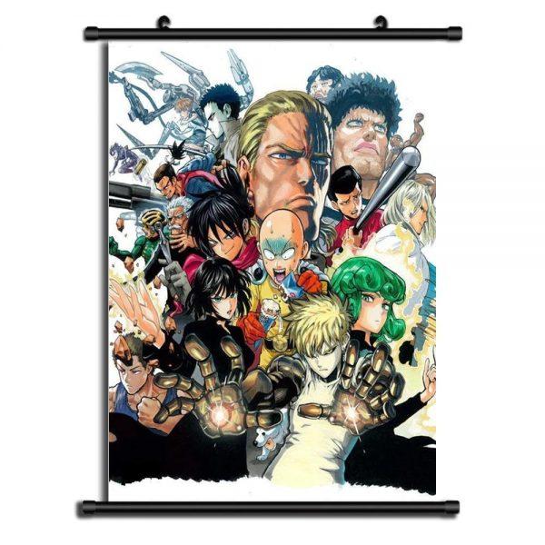 Poster One Punch Man Classe S Saitama Tatsumaki 20x30cm Official Dr. Stone Merch