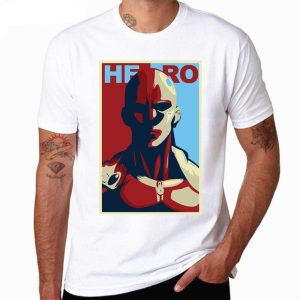 T-Shirt One Punch Man Saitama Héros S Official Dr. Stone Merch