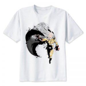 T-Shirt One Punch Man Saitama Chauve Capé S Official Dr. Stone Merch