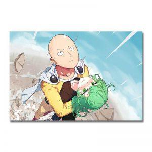 Poster Toile One Punch Man Saitama sauve Tatsumaki 30x45cm Official Dr. Stone Merch