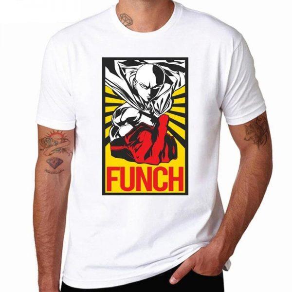 T-Shirt One Punch Man Saitama Fuck XS Official Dr. Stone Merch
