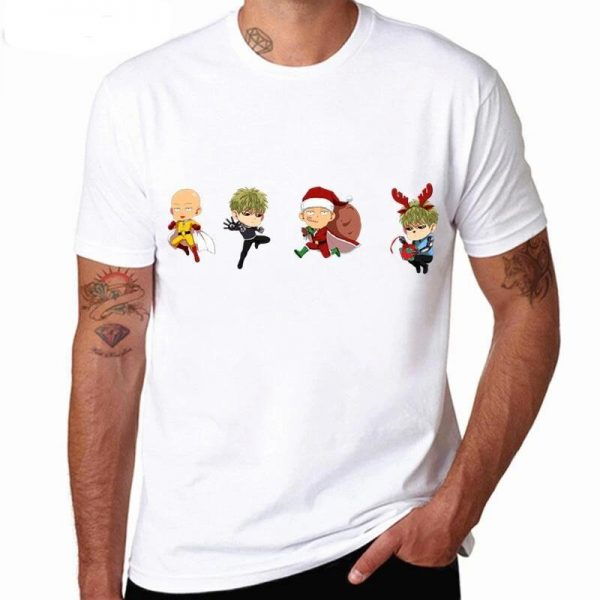 T-Shirt One Punch Man Saitama Genos Noël S Official Dr. Stone Merch