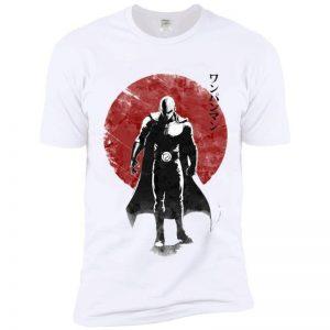 T-Shirt Saitama Lune rouge S Official Dr. Stone Merch