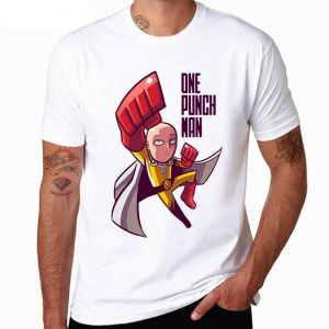 T-Shirt One Punch Man Saitama Cartoon Network S Official Dr. Stone Merch