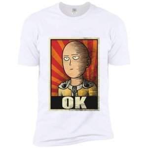 T-Shirt Saitama ok Jaune et rouge S Official Dr. Stone Merch