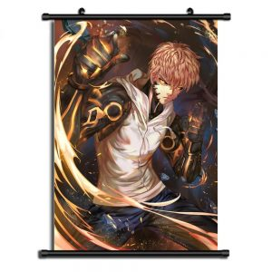 Poster One Punch Man XXL Genos Flamme 20x30cm Official Dr. Stone Merch