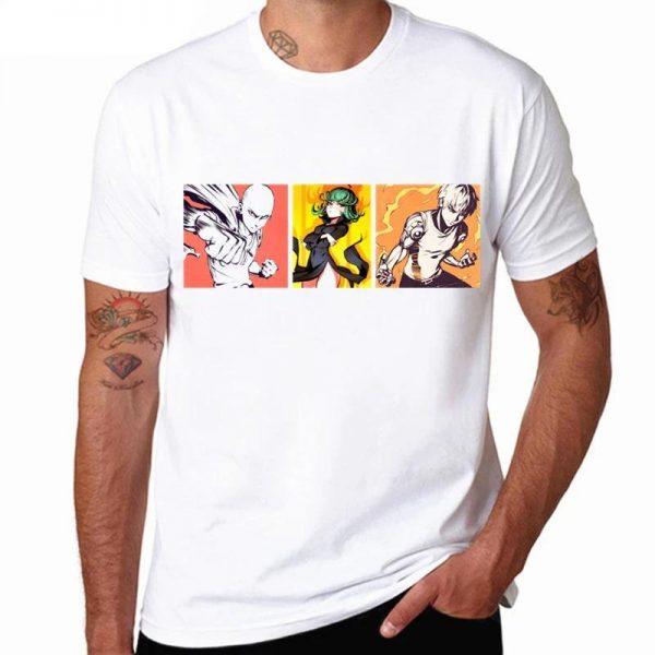 T-Shirt One Punch Man Saitama Genos Tatsumaki S Official Dr. Stone Merch