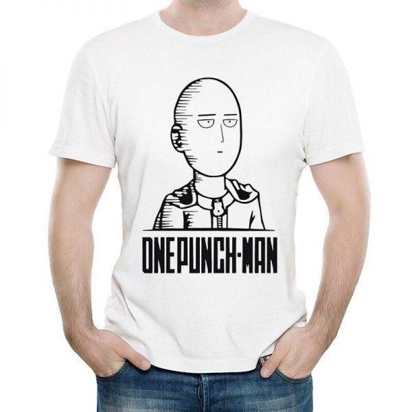 T-Shirt One Punch Man Saitama boule à zéro S Official Dr. Stone Merch
