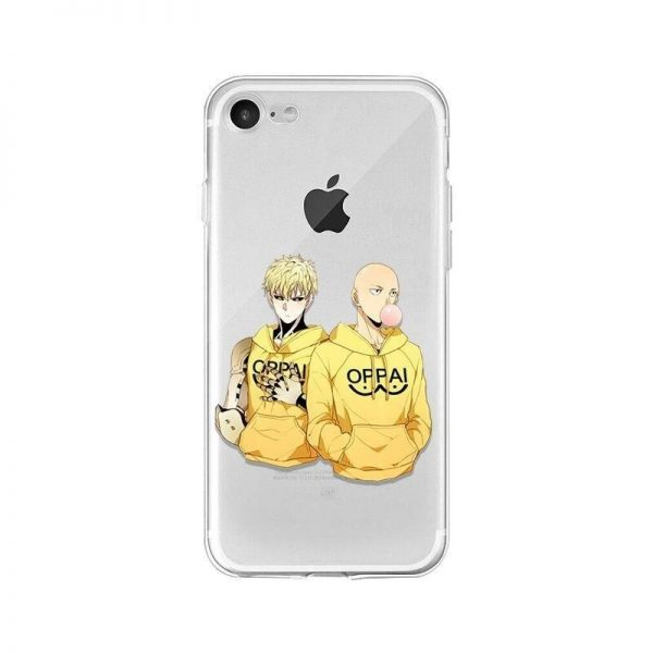 Coque One Punch Man iPhone Saitama Genos Oppai Iphone 4s Official Dr. Stone Merch