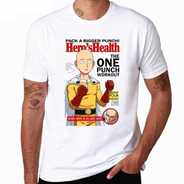 T-Shirt One Punch Man Magazine Hero's Health XS Official Dr. Stone Merch