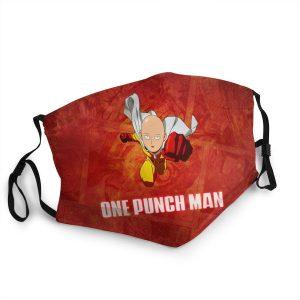 Masque Anti-Covid One Punch Man Super Saitama Lavable / Moins de 10 ans Official Dr. Stone Merch