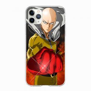 Coque One Punch Man iPhone Saitama Chauve Capé Iphone 5 S SE Official Dr. Stone Merch